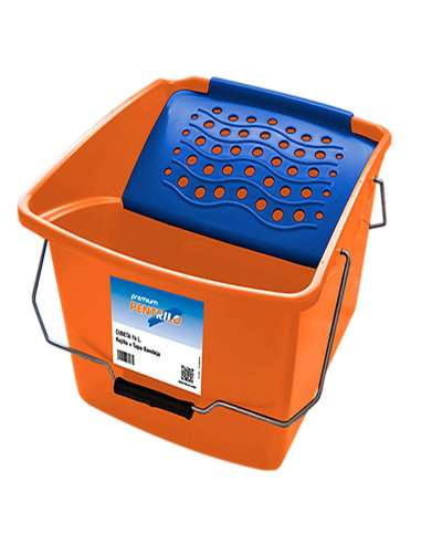 PLASTIC BUCKET 16 L WITH GRID
