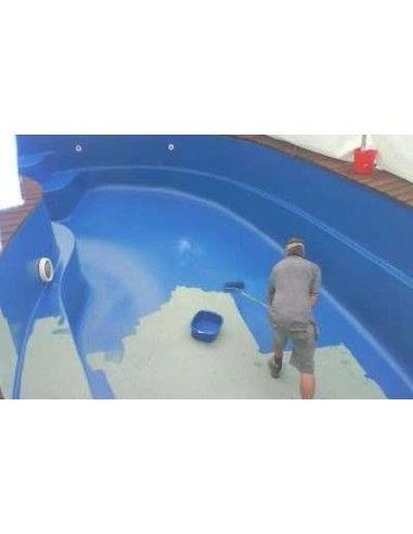 Pintura para piscinas de PVC o piscinas de Fibra de vidrio lijadas