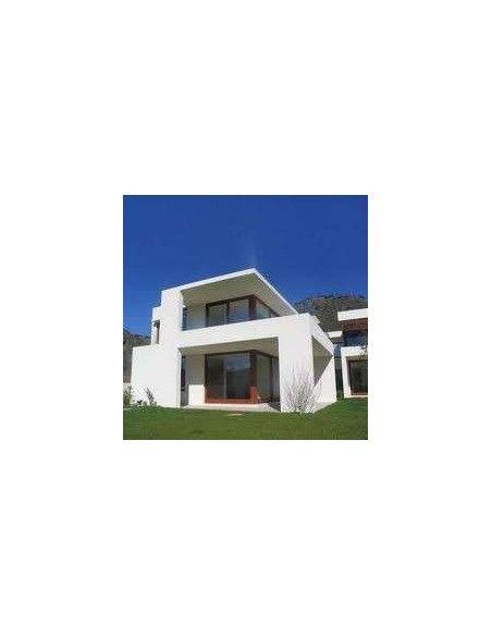 comprar pintura para Fachadas Cubrición DOBLE en color blanco o para paredes de exterior